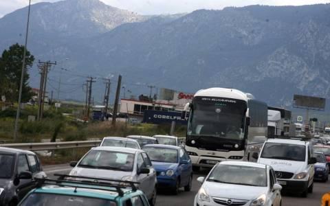 Κλειστή η Ε.Ο. Αθηνών - Θεσσαλονίκης στο ύψος της Κατερίνης