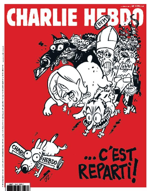 «Αρχίζουμε πάλι»: Το νέο φύλλο του Charlie Hebdo