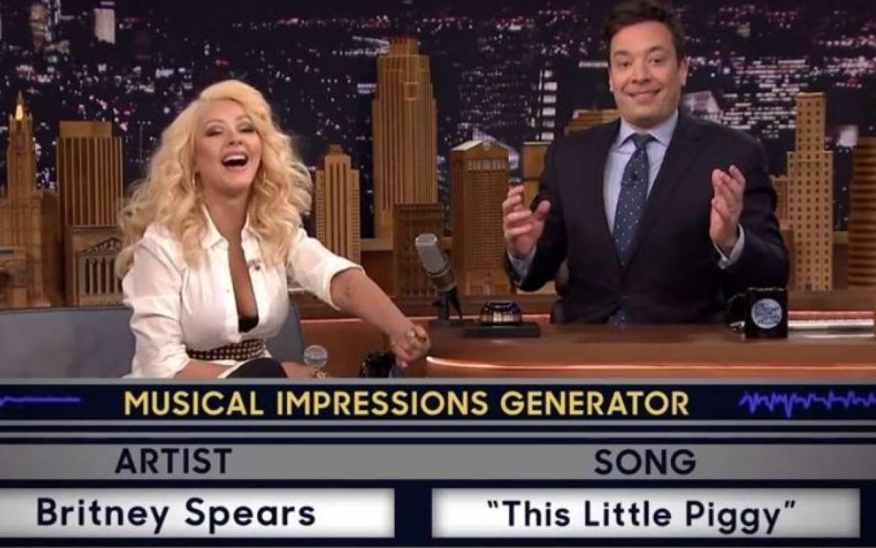 Η Christina τραγουδάει με τη φωνή της Britney (Video)