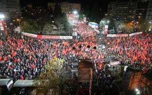 Συλλαλητήριο του ΚΚΕ στο Σύνταγμα το απόγευμα (27/02)