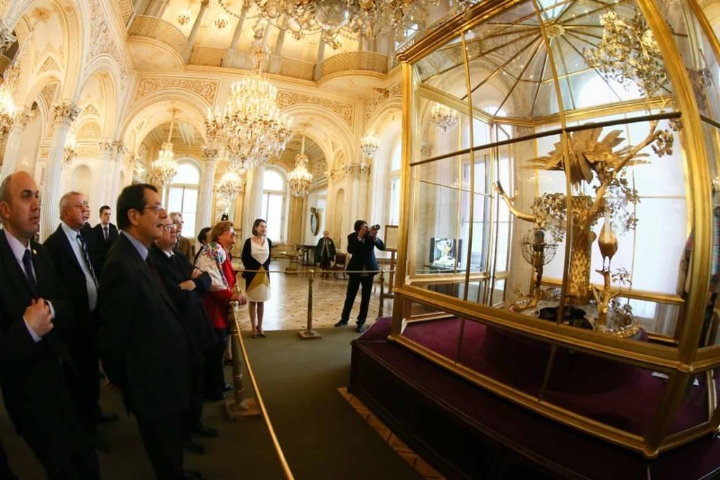 O Νίκος Αναστασιάδης στο Μουσείο Ερμιτάζ (pics)