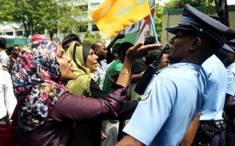 Επεισοδιακή διαδήλωση και συλλήψεις στις Μαλδίβες