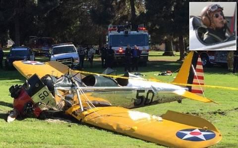 Στο νοσοκομείο ο Χάρισον Φορντ έπειτα από πτώση αεροπλάνου (video)
