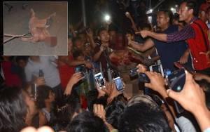 Σκληρές εικόνες: Εισέβαλαν στη φυλακή και λίντσαραν τον βιαστή της φοιτήτριας