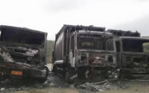 Κάηκαν τρία απορριμματοφόρα στη Χαλκιδική
