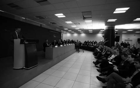ΝΔ: Δραματική λήξη της συνεδρίασης της Π.Ε. από Σαμαρά