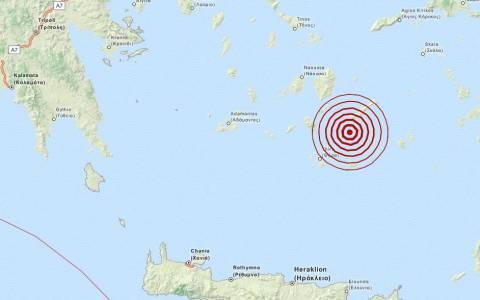Σεισμός 3,4 Ρίχτερ νότια της Αμοργού