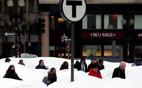 Κάνει κρύο στη Βοστώνη (photos)