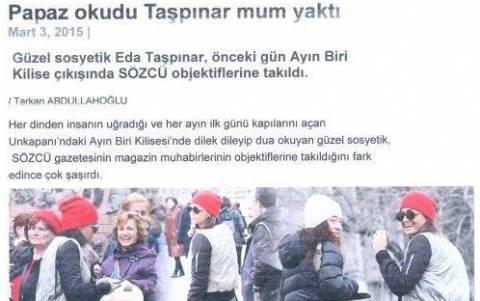 Διάσημη Τουρκάλα προσεύχεται σε Ελληνορθόδοξο ναό της Πόλης