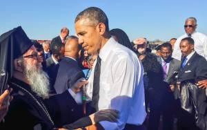 Ο Αρχιεπίσκοπος Αμερικής περπάτησε με τον Πρόεδρο Ομπάμα στα βήματα του Λούθερ Κίνγκ