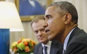 Η Ελλάδα στην ατζέντα της συνάντησης Ομπάμα - Τουσκ