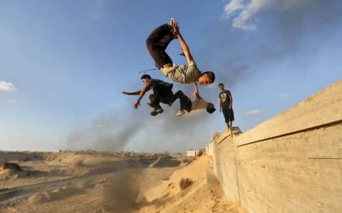 Για παρκούρ στη Γάζα! (video)