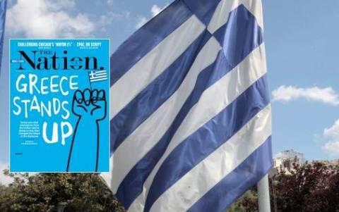 Η ελληνική σημαία στο εξώφυλλο του αμερικανικού The Nation