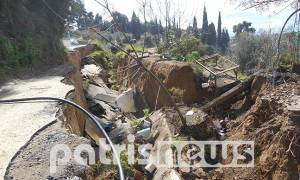 Η γη συνεχίζει να «καταπίνει» σπίτια στην Ανάληψη (photos)