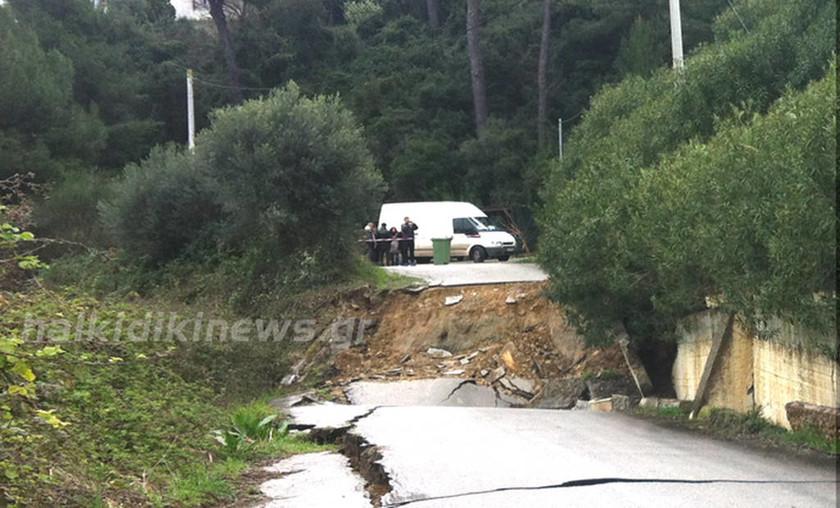 Χαλκιδική: Προβλήματα από την κακοκαιρία στο δήμο Κασσάνδρας (photo)