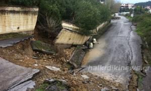 Χαλκιδική: Προβλήματα από την κακοκαιρία στο δήμο Κασσάνδρας (photos)
