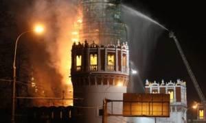 Μόσχα: Στις φλόγες το ιστορικό μοναστήρι Νοβοντέβιτσι (video )