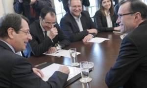Κυπριακό: Συναντήσεις 'Αιντε με Αναστασιάδη-Έρογλου