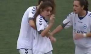 Απίθανες χειρονομίες από παίκτρια του Ατρόμητου (video)
