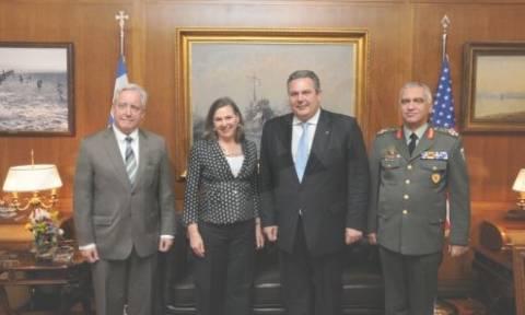 Άμυνα και Ενέργεια στο επίκεντρο της συνάντησης Καμμένου - Νούλαντ