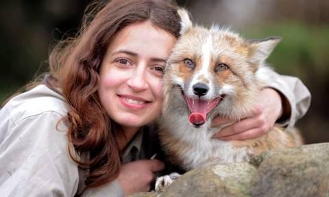 Η αλεπού που νομίζει πως είναι… σκύλος! (video & photos)