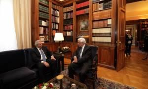 Παυλόπουλος σε Κυπριανού: Στηρίζουμε τις προσπάθειες για λύση στο Κυπριακό