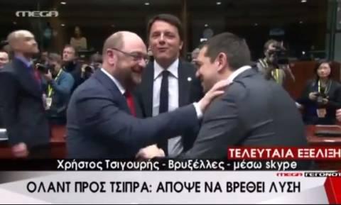 Ο Σουλτς «χτύπησε» τον Τσίπρα στη Σύνοδο Κορυφής (vid)