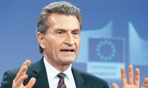 Έτινγκερ: Πρόοδος η δέσμευση της Αθήνας για μεταρρυθμίσεις