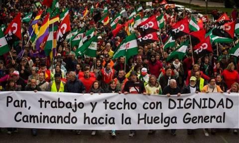 Ισπανία: Μαζικές διαδηλώσεις κατά της λιτότητας