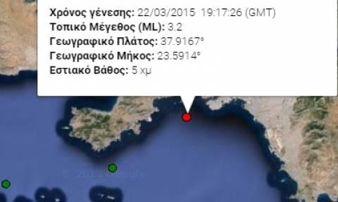 Σεισμός 3,2 Ρίχτερ δυτικά της Αττικής