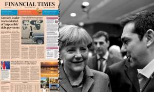 Financial Times - Επιστολή Τσίπρα σε Μέρκελ: Σπρώχνετε σε στάση πληρωμών
