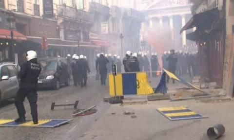 Πόλεμος… οπαδών στις Βρυξέλλες! (photos+videos)