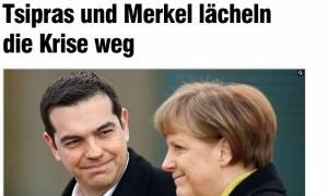 Bild: Τσίπρας και Μέρκελ διώχνουν την κρίση με ένα χαμόγελο
