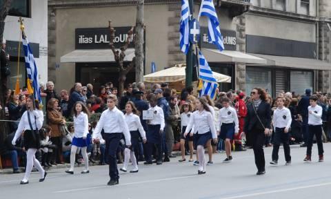 Ολοκληρώθηκε η μαθητική παρέλαση στο Σύνταγμα