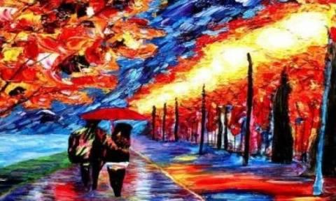 Τα απίστευτα χρωματισμένα έργα ενός τυφλού ζωγράφου