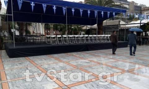 25η Μαρτίου: Ματαιώθηκε λόγω κακοκαιρίας η μαθητική παρέλαση στη Λαμία