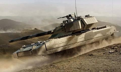 Ρωσικά τανκς Τ-14 «Άρματα» κάνουν πρόβες για την παρέλαση της 9ης Μαΐου
