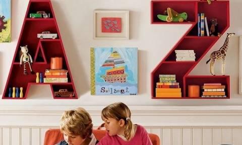 Παιδικές βιβλιοθήκες και ράφια για τα παιδικά-εφηβικά δωμάτια