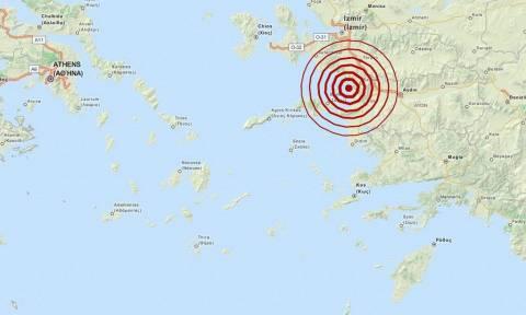 Σεισμός 4,1 Ρίχτερ βορειοανατολικά της Σάμου