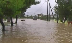 Μέσα σε δέκα λεπτά πλημμύρισε όλη η Χαλκίδα (video)