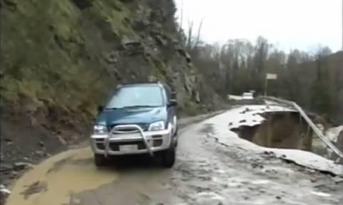 Αποκλεισμένα τέσσερα χωριά στη δυτική Φθιώτιδα (video)