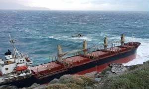 Άνδρος: Απάντληση καυσίμων από το πλοίο Good Faith