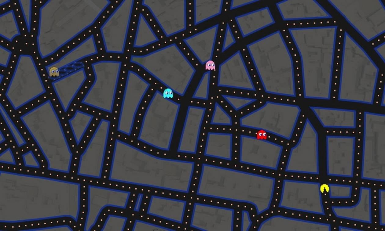 Παίξε το θρυλικό Pac-Man μέσα από το Google Maps!