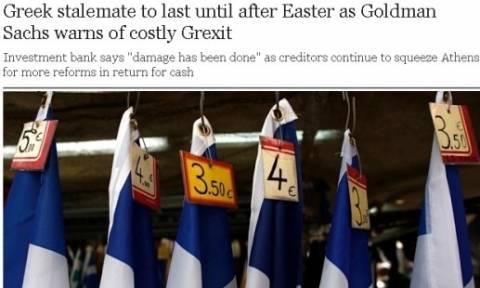 Telegraph: «Η ζημιά έχει ήδη γίνει στην Ελλάδα» λέει επιστολή της Goldman Sachs
