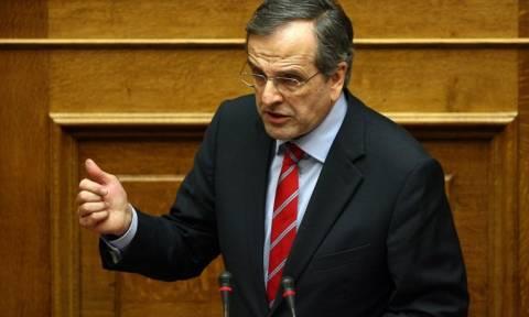 Σαμαράς: Θετικός σε κυβερνητικό συνασπισμό για να μείνει η χώρα στο ευρώ