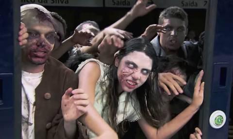 Ζόμπι στο μετρό: Η πιο τρομακτική φάρσα που έγινε ποτέ (Video)