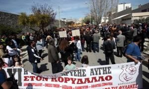 Κορυδαλλός: Διαμαρτυρία κατά της διεξαγωγής της δίκης της ΧΑ στις φυλακές