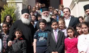 Οι Αρχιεπίσκοπος Ιερώνυμος και Γέροντας Εφραίμ στην «Αποστολή»