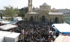 Κύπρος: Λειτουργία της Κυριακής των Βαΐων, μετά από 41 χρόνια στον Άγιο Μάμα