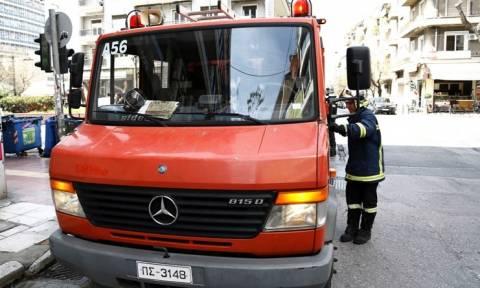 Ηράκλειο: Φωτιά στο Ταχυδρομικό Ταμιευτήριο